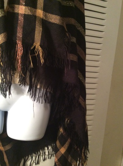 Other Beautiful Large Coat Shawl/Scrave Black Multicolor 51X51
