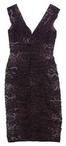 Tadashi Shoji short dress Leopard Print Silk Sleeveless on Tradesy