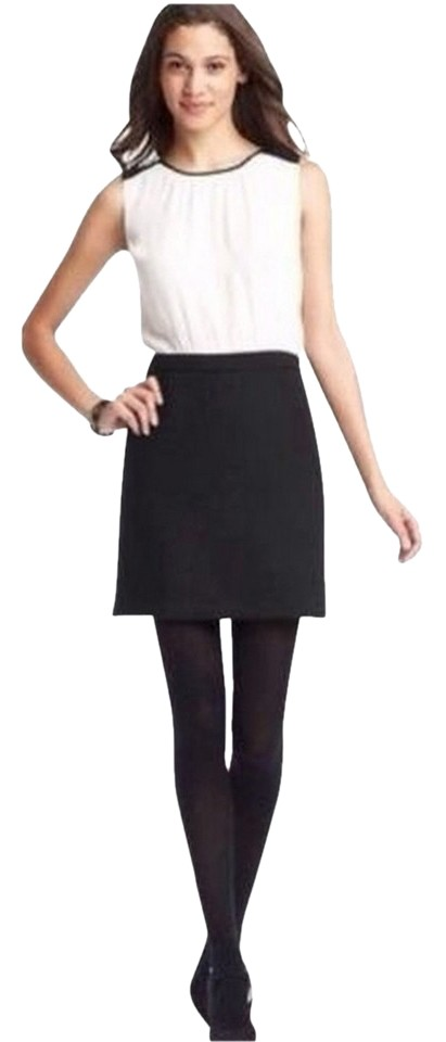 3453afeb4e Ann Taylor LOFT Black and White Above Knee Work Office Dress Size 8 ...
