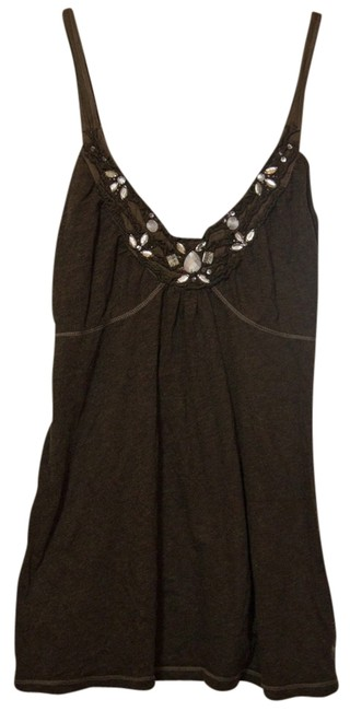 Abercrombie & Fitch Top Brown/Jeweled