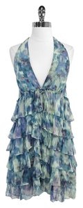 Elizabeth and James short dress Silk Tiered Ruffle Halter on Tradesy
