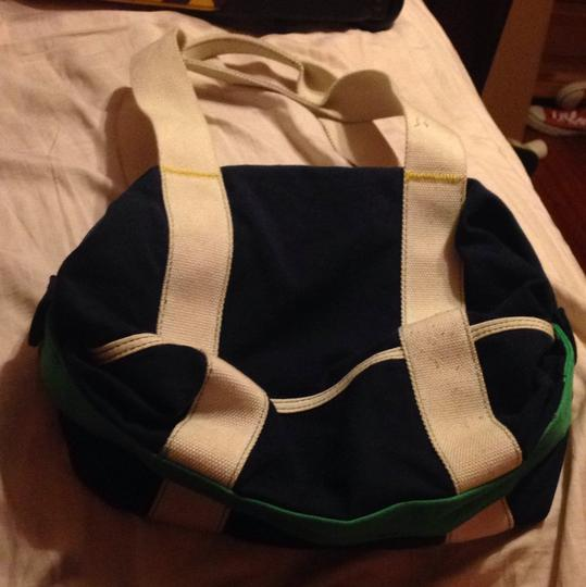 American Eagle Outfitters Tote in Navy Blue/ White/ Green