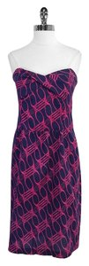 Diane von Furstenberg short dress Print Strapless on Tradesy