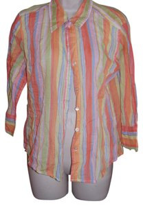 Caribbean Joe Button Down Shirt Multi colored
