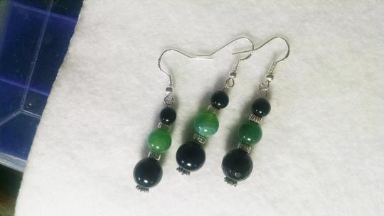 """Alley Cat Designs """"Pair with a Spare"""" Handmade Sterling Silver 3 Piece Earrings A001"""