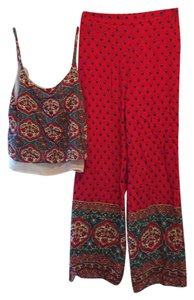 Stoosh Flare Pants red, blue, white