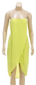 BCBGMAXAZRIA short dress Neon Yellow on Tradesy