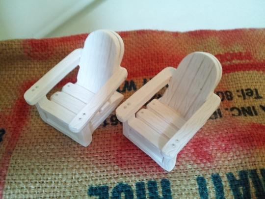 White 59 Mini Adirondack Chair Namecard Holders Tableware