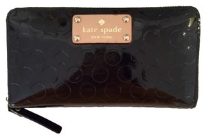 Kate Spade Kate Spade Spot And Spade Patent Leather Wallet