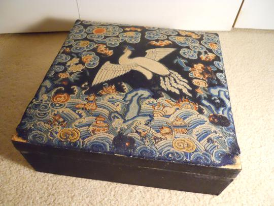 Other antique embroidered Victorian large jewelry box