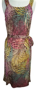 Axcess short dress Multi Sleeveless Multi-print Belt At Waist Medium A-line on Tradesy