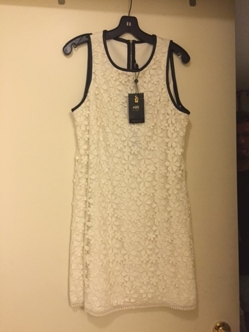 A.B.S. by Allen Schwartz Abs Lace Bridal Leather Chic Boho Dress