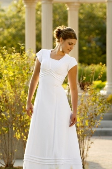Envogue bridal 3805 modest wedding dress wedding dress on for Modest wedding dresses for sale