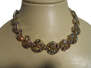 Other Vintage aurora borealis choker necklace
