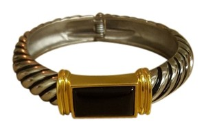 Stainless steel and gold plated bracelet
