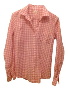 J.Crew Button Down Shirt Pink And White