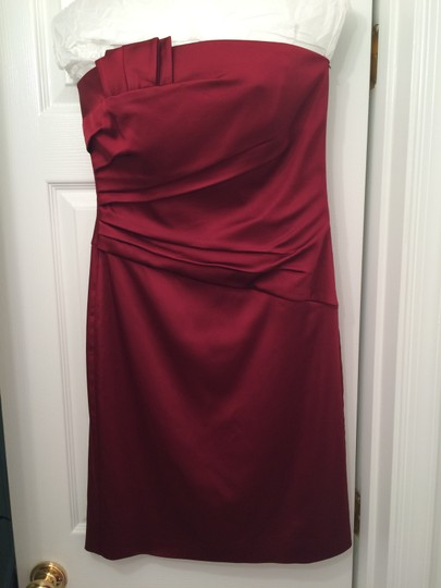 White House | Black Market Burgundy Dress