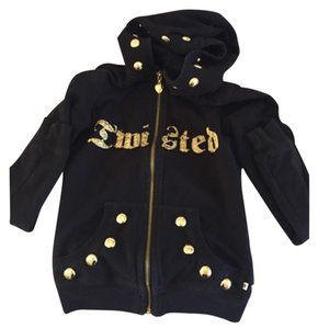 Twisted Heart Black and Gold Jacket