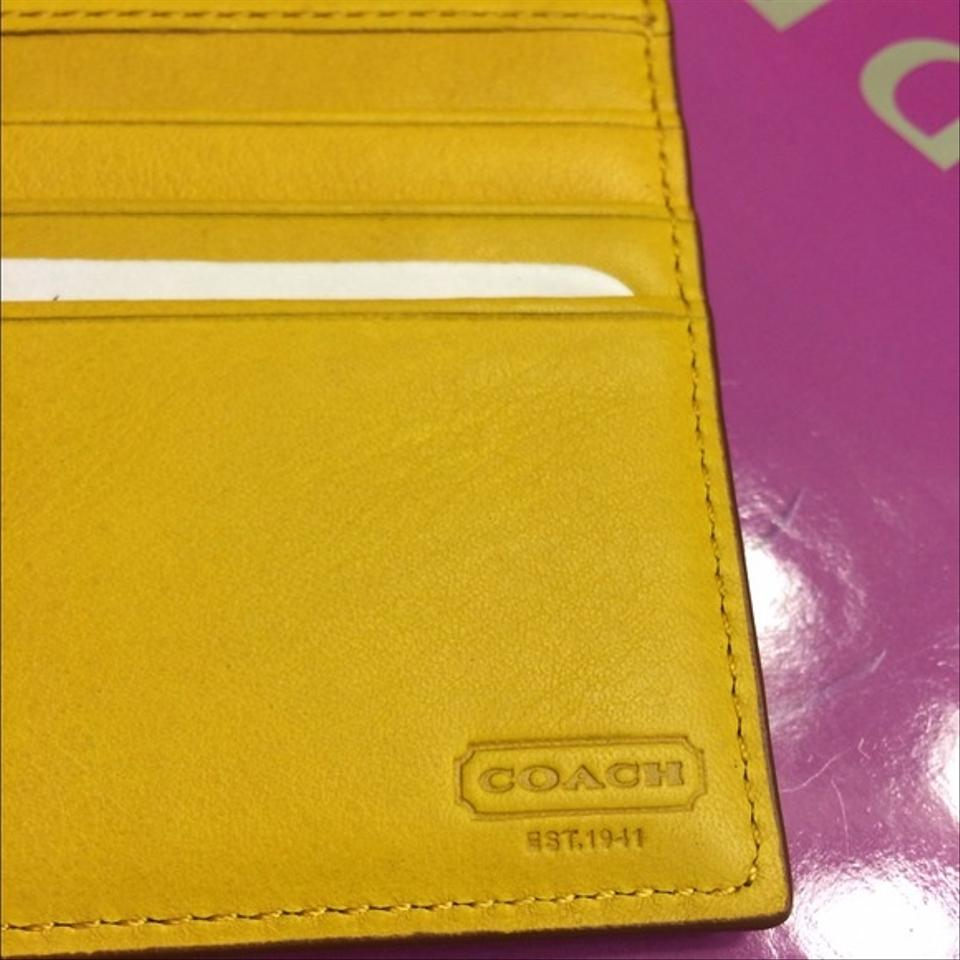 Coach Yellow Wallet 25 Off Coach Accessories Tradesy