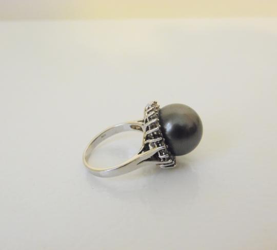 Pearlfection Pearlfection .925 Faux Black South Sea Pearl Ring Size 8 Image 11