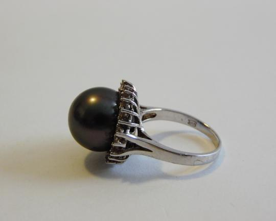 Pearlfection Pearlfection .925 Faux Black South Sea Pearl Ring Size 8 Image 2