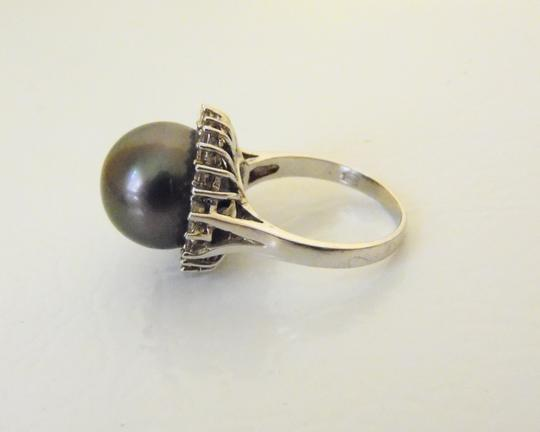 Pearlfection Pearlfection .925 Faux Black South Sea Pearl Ring Size 8 Image 5