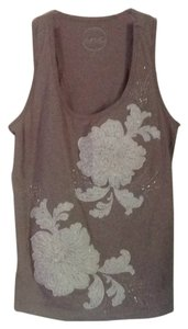 INC International Concepts Top Light taupe & cream