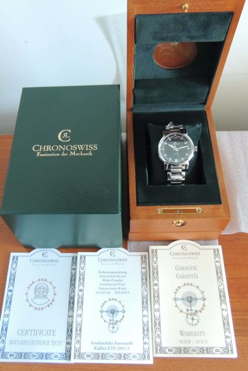Chronoswiss Chronoswiss Sirius CH1023 Mechanical SS 40mm Watch Box Paper