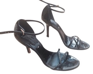 BCBGMAXAZRIA Bcbg Sandals Strappy Heels Patent Leather Sandals Heels Black Formal