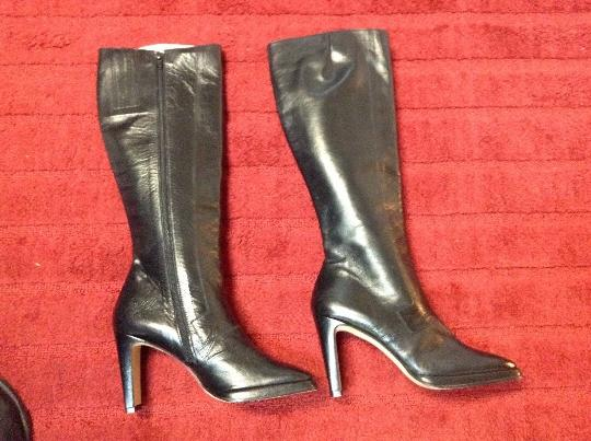 Paco Gil Vintage Knee High Leather Black Boots