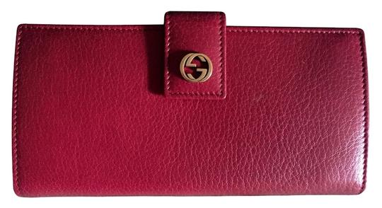 Gucci Gucci Miss Gg Continental Wallet Burgundy Red Leather 337335 2067 w/ Gift Receipt