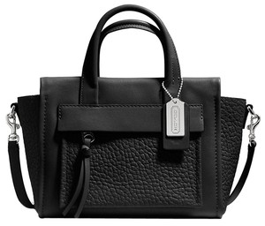 Coach Celine Crossbody Bleecker Bleeker Bleaker Riley Mini Leather Pebbled Legacy Nano Micro Satchel in Black