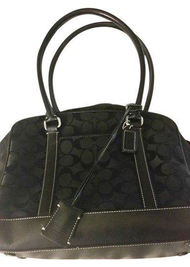 Preload https://item2.tradesy.com/images/coach-monogran-black-cloth-monogram-shoulder-bag-5324791-0-0.jpg?width=440&height=440