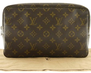 Louis Vuitton (GREAT CONDITION) Authentic LOUIS VUITTON Trousse Toilette Monogram Cosmetic Bag Pouch Clutch 28 M47522