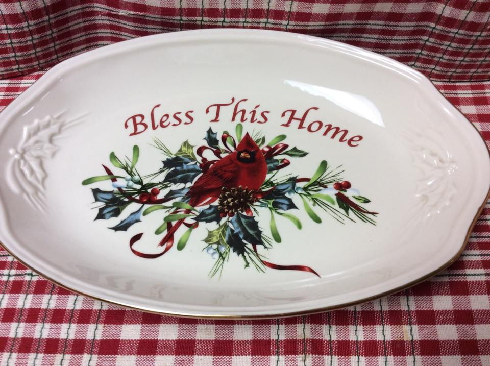 "Lenox Wedding Gifts: Lenox ""winter Greetings"" Tray 46% Off #5326027"