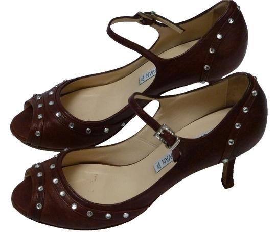 Luciano Padovan Italian Leather Brown Pumps Image 0