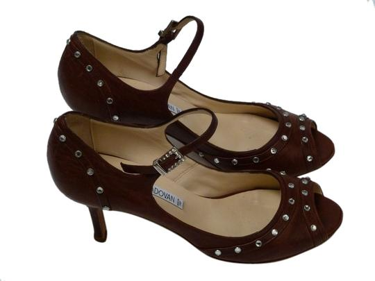 Luciano Padovan Italian Leather Brown Pumps Image 1