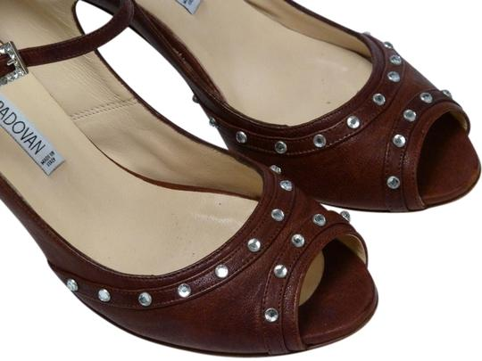 Luciano Padovan Italian Leather Brown Pumps Image 2