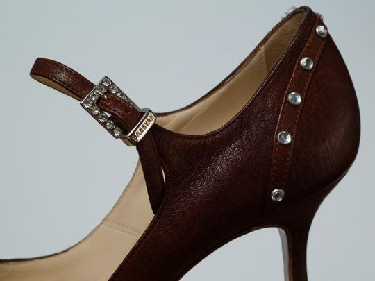 Luciano Padovan Italian Leather Brown Pumps Image 3