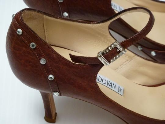 Luciano Padovan Italian Leather Brown Pumps Image 5
