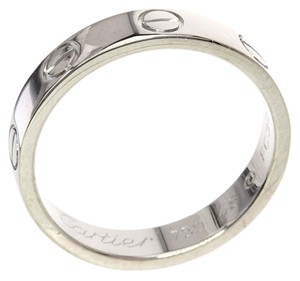 Cartier CARTIER 18K White Gold Mini Love Ring US Ring Size: 4.5