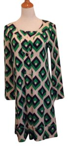 Diane von Furstenberg short dress Navy, bright green and white on Tradesy