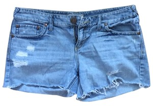 Free People Cut Off Shorts Light blue