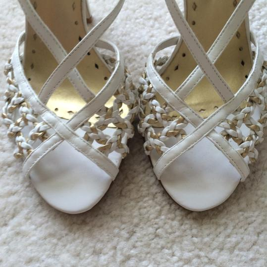 BC Footwear White and gold Formal Image 7