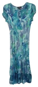 R & M Richards short dress Turquoise lavender multi on Tradesy