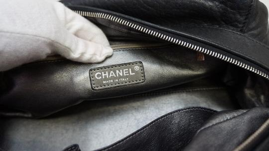 Chanel Bowler Soft Leather Cc Satchel in Black