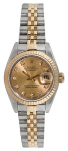 Rolex Rolex Datejust 18K/SS original Diamond Ladies Watch