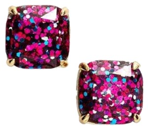 Kate Spade LAST PAIR NWT Kate Spade Pink/Purple Multi Glitter Stud Earrings