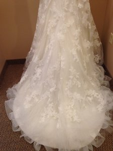 Maggie Sottero Ivory/Silver Hope Wedding Dress Size 12 (L)