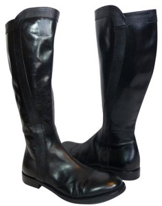 Attilio Giusti Leombruni Leather Knee High Equestrian Black Boots